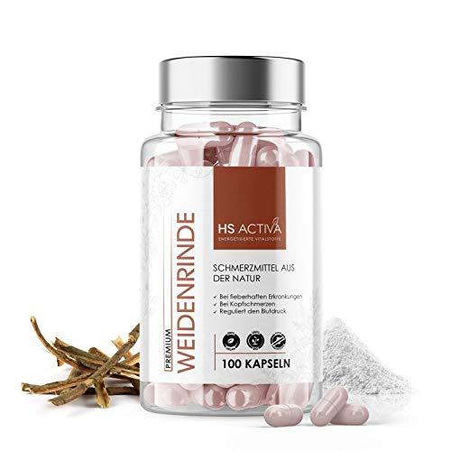 Weidenrinde Trockenextrakt I Hochdosiert: 450 mg pro Kapsel I Hilft...