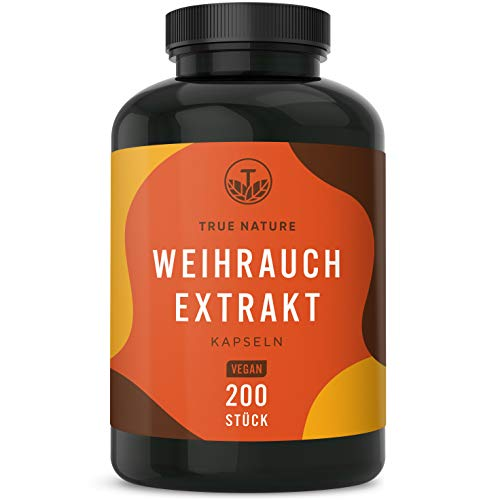 TRUE NATURE® Weihrauch Extrakt Kapseln (Boswellia Serrata) - 200...
