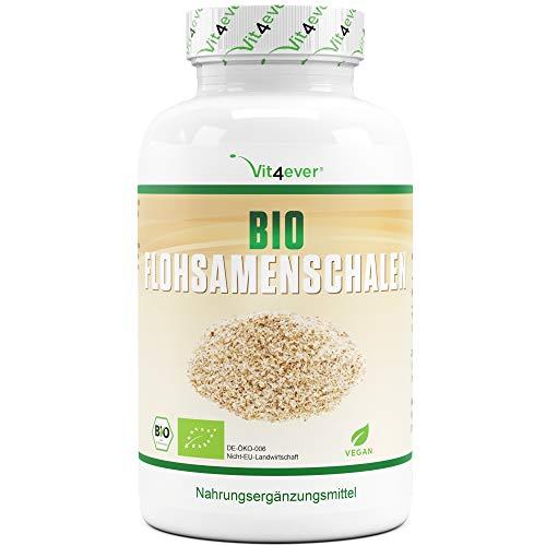 Bio Flohsamenschalen - 365 vegane Kapseln - 3000 mg je Tagesdosis -...