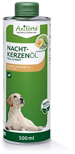 AniForte Nachtkerzenöl für Hunde 500ml – ungesättigte &...