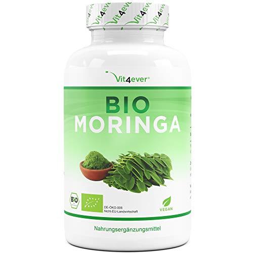 Bio Moringa - 300 Kapseln mit 600 mg - 100% BIO Moringa Oleifera -...