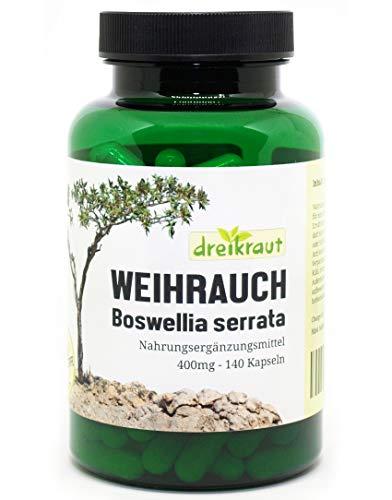 Weihrauch-Kapseln 400mg, Boswellia Serrata, 140 Stück, hochdosiert,...
