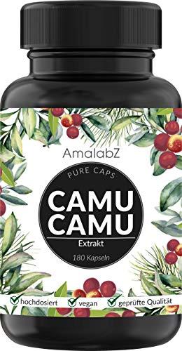 Camu-Camu Kapseln - Natürliches Vitamin C - 180 vegane Kapseln für 6...