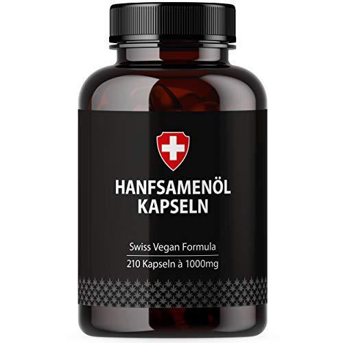 Hanföl in Softgel-Kapseln | Hochdosiert mit 1000mg pro Kapsel | Von...