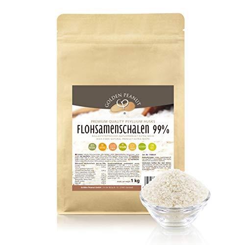 Flohsamenschalen 99 % Reinheit 1 Kg, Extra Weiß, Premium Qualität,...