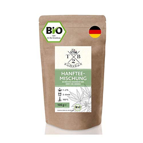 Bio Kräutertee-Mischung mit Hanf, Grünem Tee und Zitronengras –...