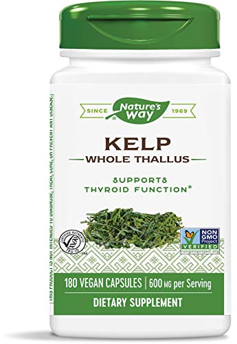 Nature's Way | Kelp | 600 mg | 180 Veggie-Kapseln | Algen