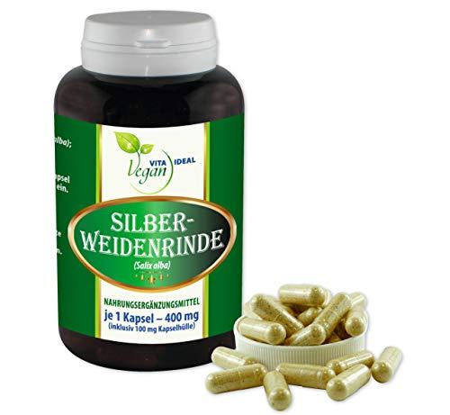 VITAIDEAL VEGAN® Silber - Weidenrinde (Salix alba) 180 Kapseln je...