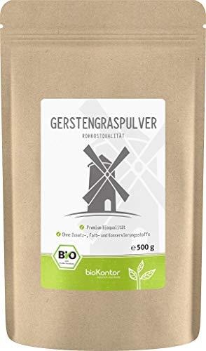 BIO Gerstengraspulver 500g | Gerstengras gemahlen | 100% naturrein |...
