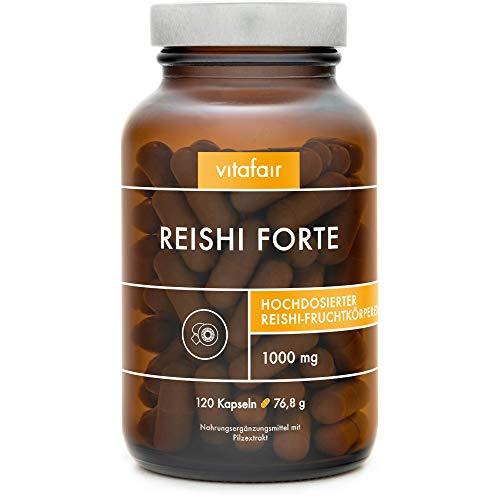 VITAFAIR 100% Vegane Reishi Kapseln mit 1000 mg Tagesdosis, Reishi...