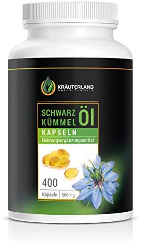 Kräuterland Schwarzkümmelöl - 400 Kapseln - 100% rein, ägyptisch,...