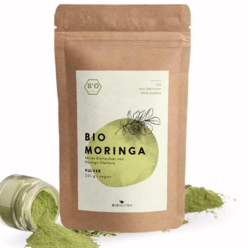 BIONUTRA® Moringa Pulver Bio 250 g, feines Blattpulver von Moringa...