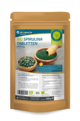 FP24 Health Bio Spirulina Tabletten 1kg - 400mg pro Tablette -...