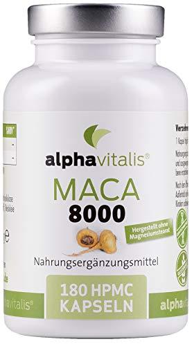 Maca Gold 8000 – 180 Maca Kapseln 20:1 Extrakt - vegan - ohne...