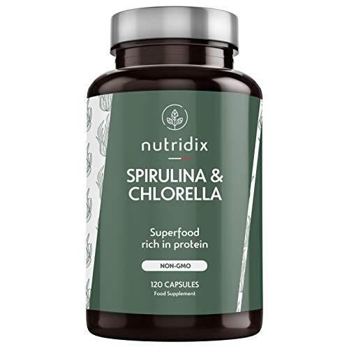 Spirulina und Chlorella 100% Vegan Hochdosiert - Energie und...