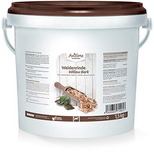 AniForte Weidenrinde geschnitten für Pferde 1,5kg - Naturprodukt aus...