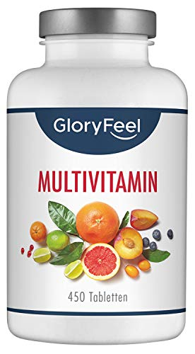 Multivitamin Hochdosiert - 450 Tabletten (15 Monate) -...