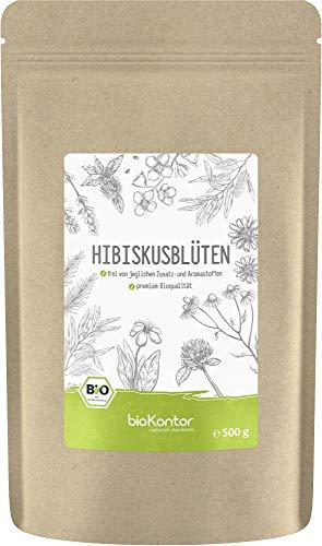 BIO Hibiskusblüten ganz und getrocknet 500g - Premium Hibiskustee -...
