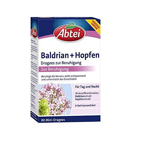 Abtei Baldrian + Hopfen Dragees zur Beruhigung für Tag und Nacht -...