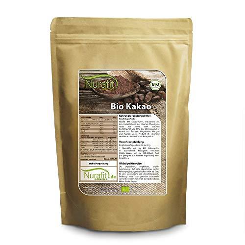 Nurafit BIO Kakao-Pulver, stark entölt mit 11% Fettanteil,...