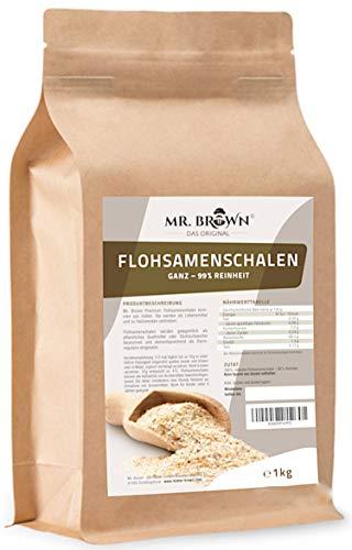 Mr. Brown Flohsamenschalen natur 1000 g | 99 % Reinheit | Premium...