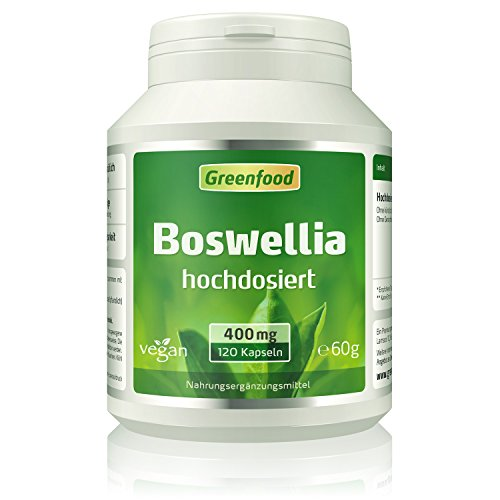 Weihrauch (Boswellia serrata), 400 mg, hochdosiert, 120 Vegi-Kapseln...