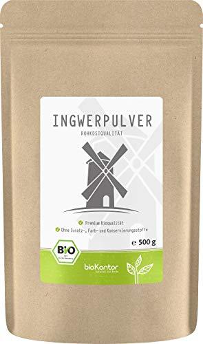 Bio Ingwerpulver / Ingwer gemahlen 500g in ROHKOSTQUALITÄT von...