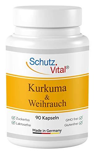 Kurkuma Kapseln mit Weihrauch hochdosiert - je 600 mg Curcuma Extrakt...