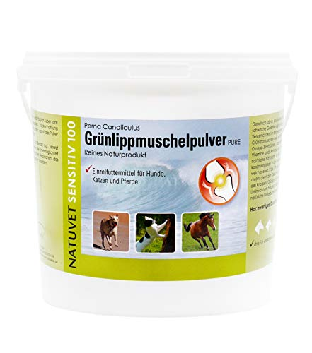 NatuVerde Grünlippmuschel-Pulver für Hunde, Katzen und Pferde,...
