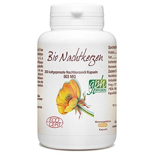 Bio Nachtkerzenöl- 500mg- 200 kaltgepresste Öl Kapseln