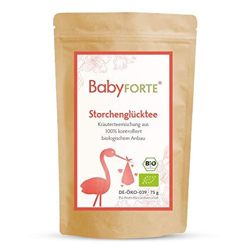 BabyFORTE Storchenglücktee/Hibbeltee - 75 g Bio Kräuterteemischung -...