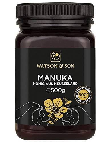 Watson & Son Manuka Honig MGO 600+ 500g, Zertifizierte Premium...