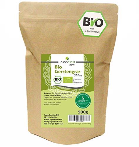 Superkost Bio Gerstengras, mit Laborprüfsiegel, Rohkostqualität, 1er...