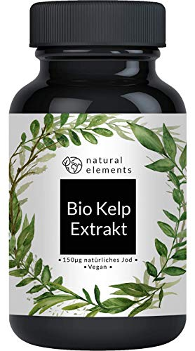 Bio Kelp Extrakt (Natürliches Jod) - 365 Tabletten mit je 150µg Jod...