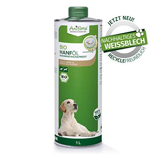 AniForte kaltgepresstes Bio Hanföl für Hunde & Pferde 1 Liter - 100%...
