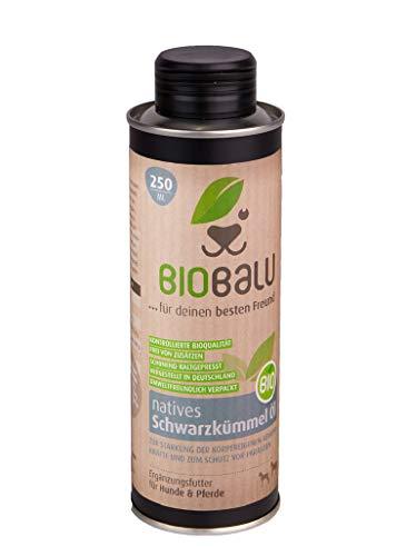Biobalu Bio Schwarzkümmelöl 250 ml | Schwarzkümmelöl für Hunde &...