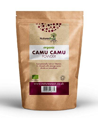 Natures Root BIO Camu Camu Beeren Pulver 250 g - Reichste Quelle für...