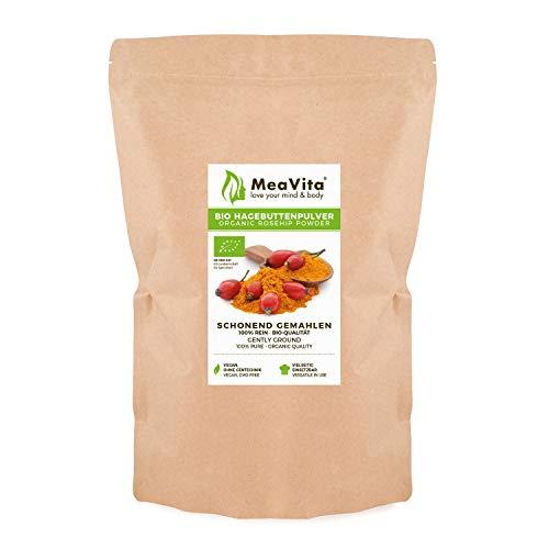 MeaVita Bio Hagebuttenpulver, in Rohkostqualität, glutenfrei, 1er...