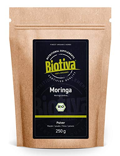 Moringa Pulver Bio 250g - Meerrettichbaum - Moringa oleifera - vegan -...