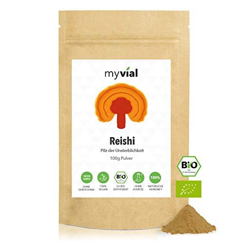 myvial® Bio Reishi Pulver 100g vegan | 100% rein und natürlich |...