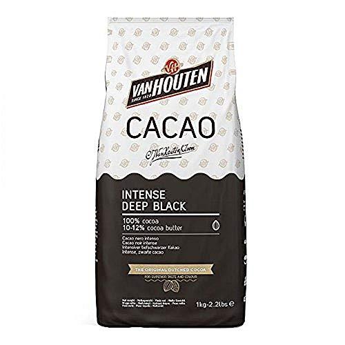 Intense Deep Black Kakao, Van Houten, 1 kg, Kakaopulver schwarz,...