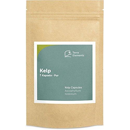 Terra Elements Kelp Kapseln (400 mg, 150 St) I Knotentang I Braunalge...