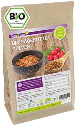 Hagebuttenpulver Bio 500g - Rosa Canina - 100% Ökologischer EU Anbau...