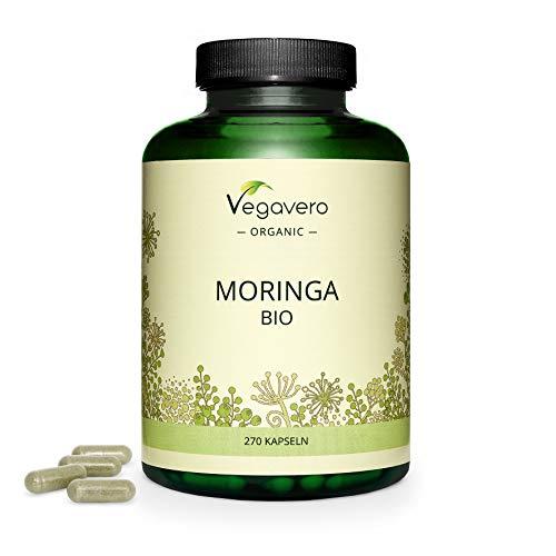 MORINGA Kapseln Vegavero ® | 600 mg | 270 Kapseln | 100% BIO Moringa...