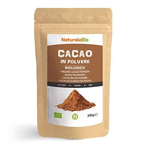 Kakao Pulver Bio 200 g. Organic Cacao Powder. 100% Natürlich, Rein...