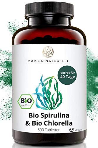 MAISON NATURELLE® Bio Spirulina & Chlorella Mix Presslinge (500...