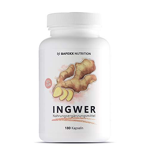 INGWER 180 Kapseln - Hochdosiertes Naturprodukt mit 300 mg...