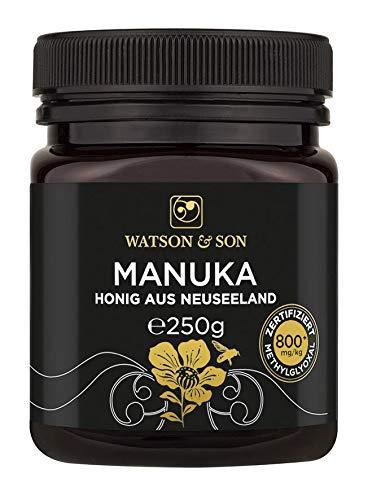 Watson & Son Manuka Honig MGO 800+ 250g, zertifizierte Premium...
