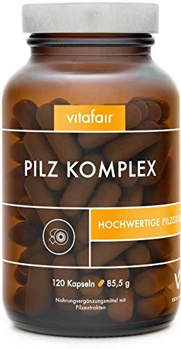 VITAFAIR Vegane Pilz Kapseln mit 7 hochwertigen Pilzextrakt...