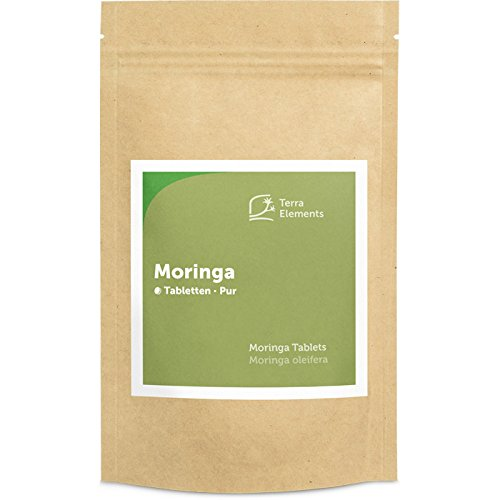 Terra Elements Bio Moringa Tabletten (500 mg, 240 St) I Reich an...